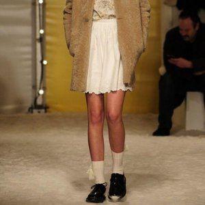 Bonpoint Eyelet Lace Scalloped Edge A Line Skirt